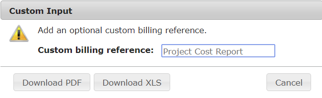 Download a Project Cost Report