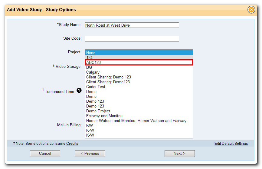 Assign a study to a project in study configuration in Traffic Data